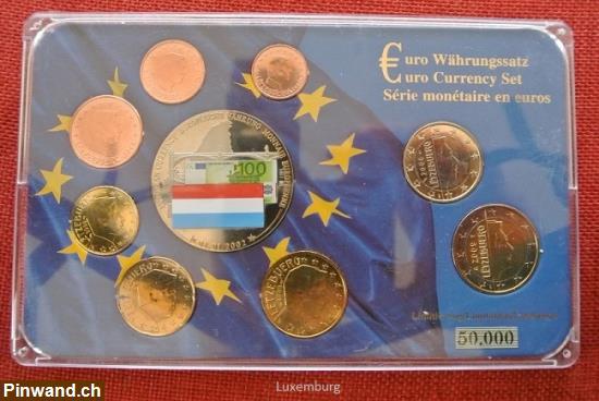 Euro Währungssatz Luxemburg Euro Münzen Von 1 Cent Bis 2 Euro